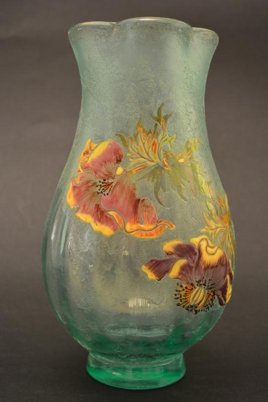 vaso in cristallo verde_produzione artistica galle
